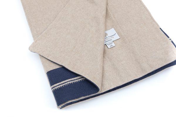 Cashmere Silk Throw with Cashmere Trim