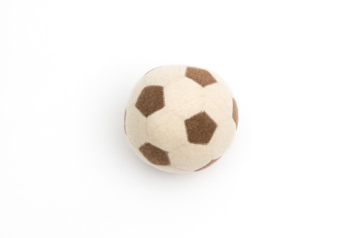 Cashmere Soccer Ball Small Size - Color Ivory | Artigiani del Cashmere